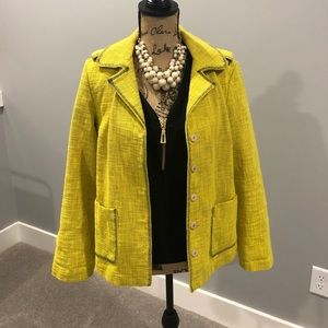 Coldwater Creek yellow & black jacket